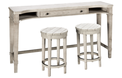 Legacy Classic Belhaven Sofa Table with Two Counter Stools