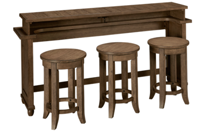 Liberty Furniture Harvest Home Console Table with 3 Stools