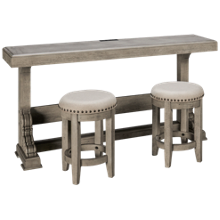 Klaussner Home Furnishings Windmere Sofa Table with 2 Stools