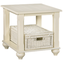 Klaussner Home Furnishings Treasures End Table and 1 Basket