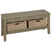 Trade Winds Morgan Cottage Bench and Two Baskets