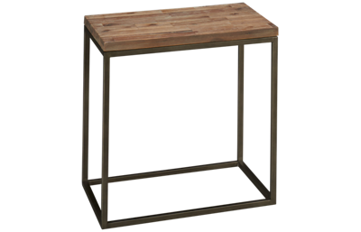 Casana Julien Rectangle Wood Top End Table