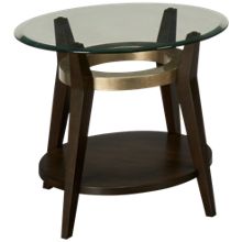 Bassett Mirror Elston Round Glass End Table