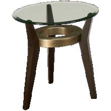 Bassett Mirror Elston Round Glass Spot End Table