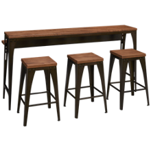 Amisco Elwood Island Table and Stools