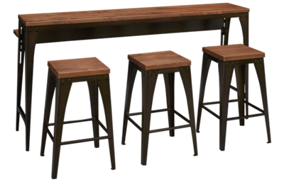 Amisco Elwood Island Table and Stools