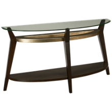 Bassett Mirror Elston Glass Top Sofa Table