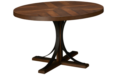 Magnolia Home Round Iron Trestle Table
