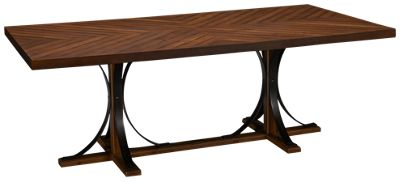 magnolia home-magnolia home-magnolia home iron trestle table