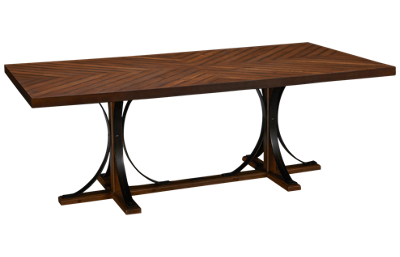 Magnolia Home Iron Trestle Table