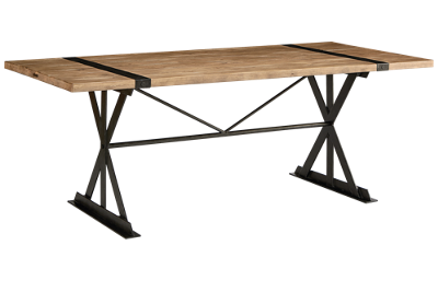 "Magnolia Home 84"" Truss & Strap Dining Table"