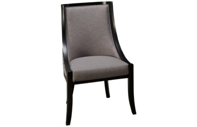Canadel Classic Side Chair with Brushed Nickel Nailhead Trim
