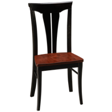 Canadel Peppercorn Side Chair Wood Seat