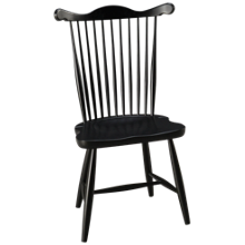 Canadel Cognac Side Chair Wood Seat