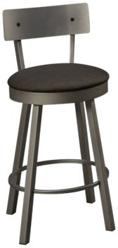 Amisco Lauren Swivel Counter Stool