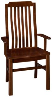 Vaughan-Bassett Simply Dining Vertical Slat Arm Chair