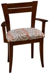 Saloom Boat Table Upholstered Arm Chair