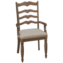 Klaussner Home Furnishings Nashville Ladderback Arm Chair