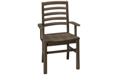 Vaughan-Bassett Simply Dining Horizontal Slat Arm Chair