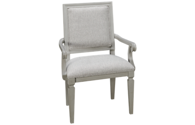 Universal Summer Hill Gray Woven Accent Arm Chair