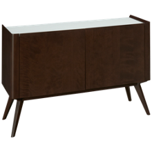 Canadel Downtown Buffet with White Glass Top