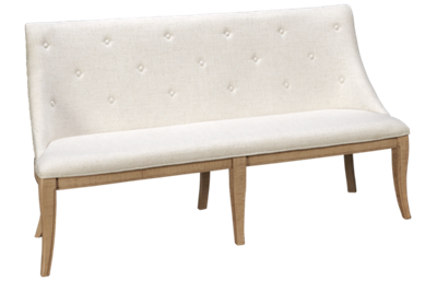 Magnussen Harlow Upholstered Bench with Nailhead