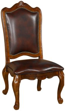 Universal Villa Cortina Leather Side Chair