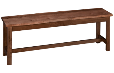 Vaughan-Bassett Simply Dining Live Edge Bench