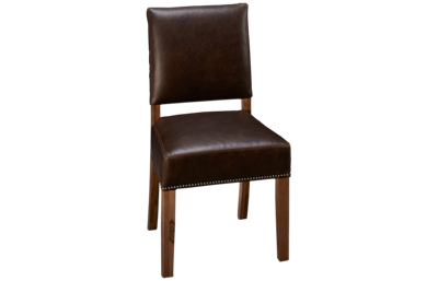 Vaughan-Bassett Simply Dining Leather Side Chair