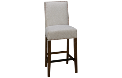 HB Designs Aiken Upholstered Counter Stool with Nailhead