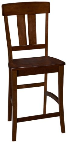 Intercon The District Splat Back Counter Stool