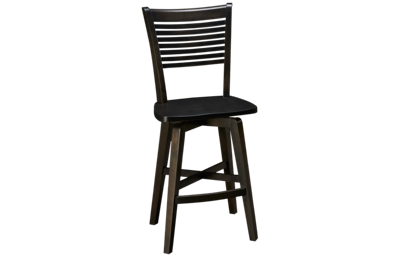 Canadel Davy's Grey Pub Swivel Counter Stool
