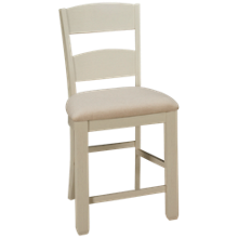 Jofran Dana Point Upholstered Ladderback Counter Stool