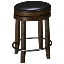"Sunny Designs Harry 24"" Swivel Backless Counter Stool"