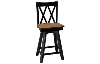 Whitewood Industries Sherwood XX-Back Swivel Counter Stool