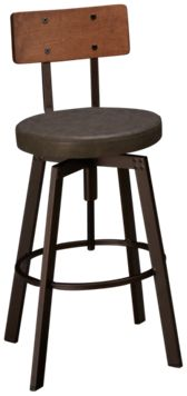"Amisco Architect 26"" Swivel Stool"