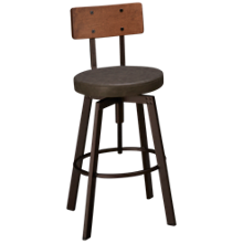 Amisco Architect Swivel Counter Stool