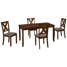 Crown Mark Clara 5 Piece Dining Set