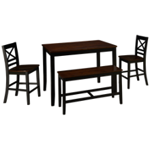 Jofran Asbury Park Table 4 Piece Counter Height Dining Set