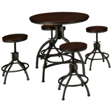 Ashley Odium Counter Height Table with 4 Stools