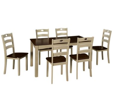Ashley Woodanville 7, Woodanville Dining Room Table And Chairs