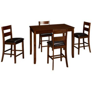 Jofran Plantation Jofran Plantation 5 Piece Counter Height Dining Set Jordan S Furniture