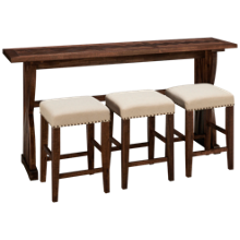 Jofran Fairview Sofa Table with 3 Counter Stools