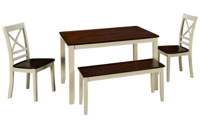 Jofran Asbury Park Table 4 Piece Dining Set