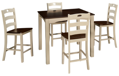 Ashley Woodanville 5 Piece Counter Height Dining Set