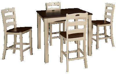 Ashley Woodanville 5 Piece Counter Height Dining Set