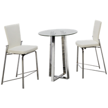 Chintaly Imports Chambers 3 Piece Dining Set