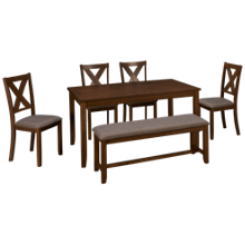 Crown Mark Clara 6 Piece Dining Set