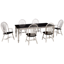 Canadel Ebony Cloud 7 Piece Dining Set