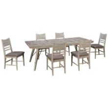 Intercon Modern Rustic 7 Piece Dining Set